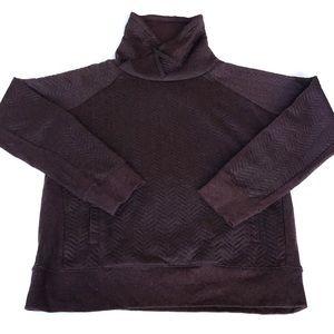 Prana Quilted Funnel Neck Pullover Sweatshirt